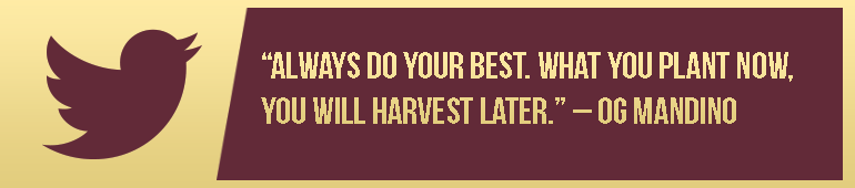 Plant now Harvest Later